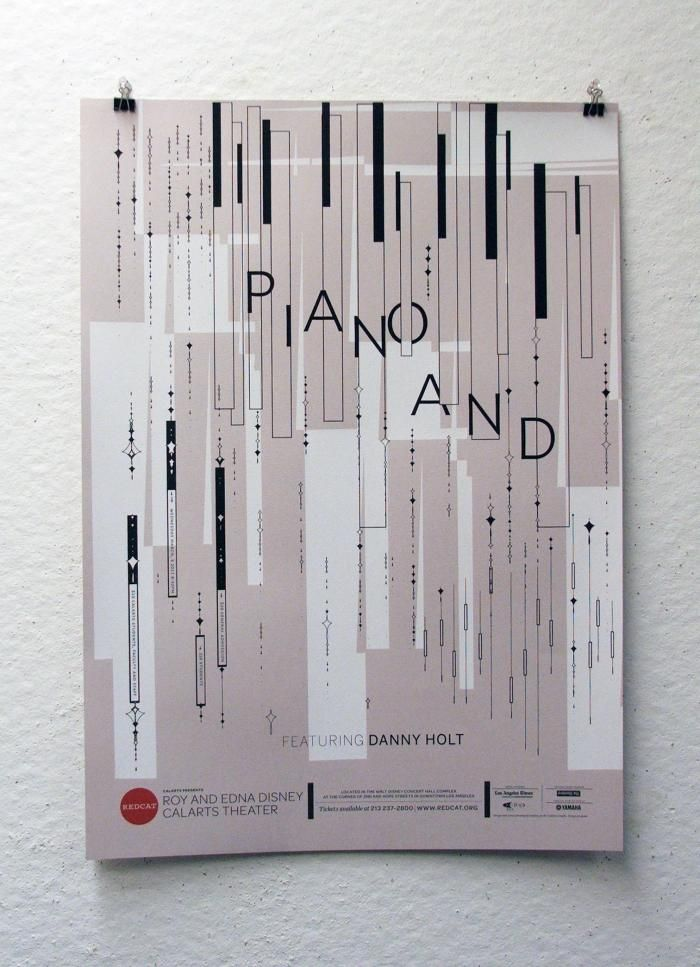 Piano And: Featuring Danny Holt | REDCAT Posters