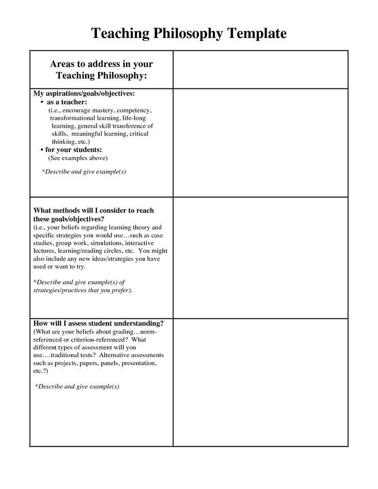 teaching philosophy examples   Teaching Philosophy Statement