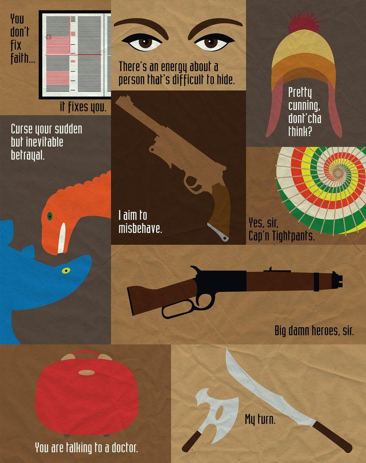 Citas de Firefly a modo infografía ^_^