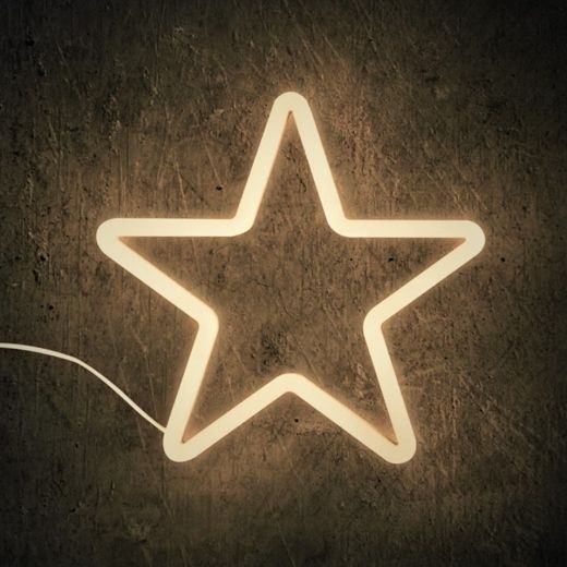 Cult Living Star Shaped Neon Sign Wall Light White In 2019