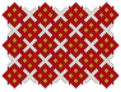 Medieval Arts & Crafts: Brick stitch pattern #2