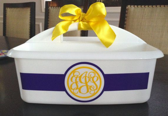 PERSONALIZED  Large Shower Caddy Perfect. by MonogramCollection