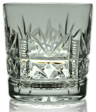 Consigned 2 Whisky Cut Glass Tumblers by Thomas Webb, Vintage English traditional-liquor-glasses