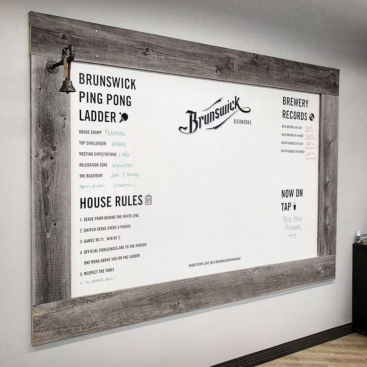 Visiting our friends @brunswickbierworks today - they made a cool Ping Pong Ladder / Notice board in their office area using our reclaimed grey barn board for the frame. Must be a fun place to work - beer  ping pong!  #pingpong #brunswickbierworks#officefun  #barnboard #diy#barnwood #barn #reclaimed #reclaimedwood #rustic #rusticwood #igers #toronto #hamilton #hamont #tdot #the6ix #durhamregion #durham #pickering #ajax #whitby #oshawa #905 #woodworking #ontariowood #maker #customfurniture