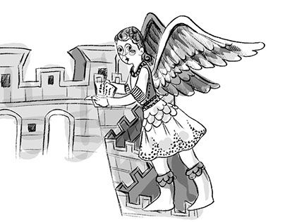 """Check out new work on my @Behance portfolio: """"angel illustration"""" http://be.net/gallery/51525441/angel-illustration"""