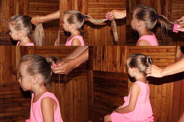 Как сделать пучок из волос для выступления?