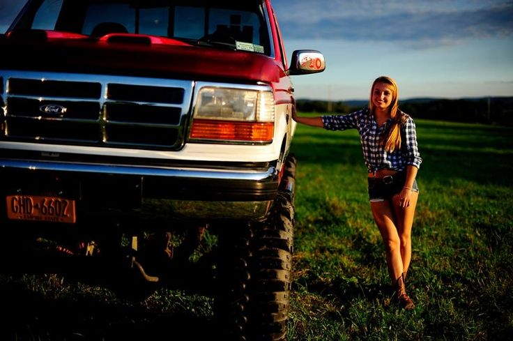 Ford girl senior picture. Took a pic like this only holding my 243 rifle!.