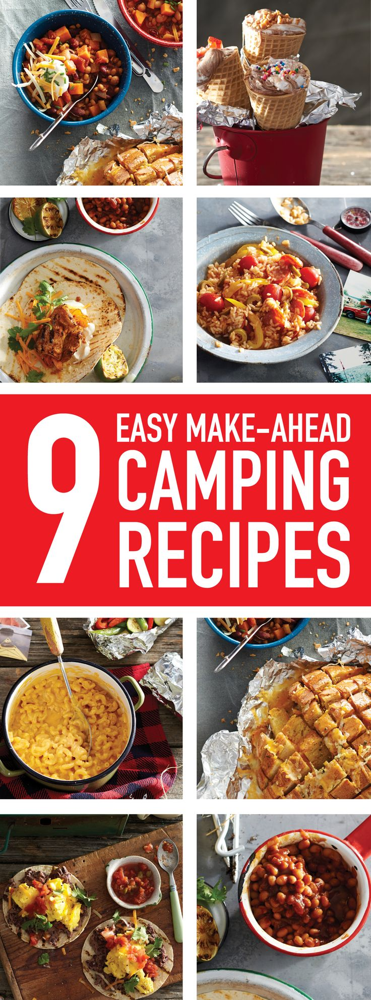 Prep in the kitchen, pack in the cooler and do (almost) nothing but enjoy these simple make-ahead camping meals by the light of the fire.