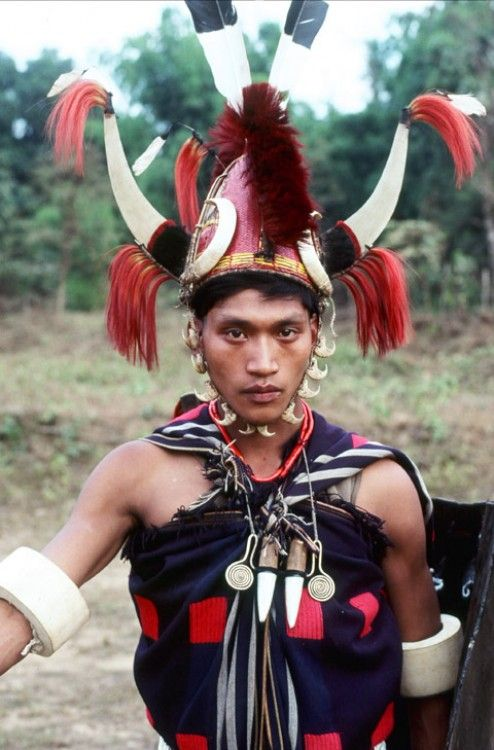 Naga tribesman.  'Vanishing Tribes of Burma' | © Richard K Diran