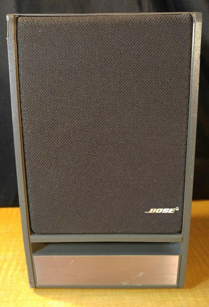 1 Bose Bookshelf Speaker Model 141 Dark Gray W Silver Trim Great Shape
