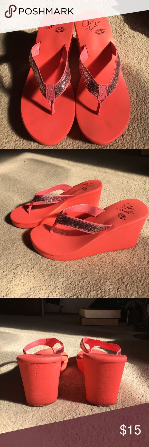 Colin Stuart wedge flip flops Colin Stuart wedge flip flops 3 1/2 in. Height. Make me an offer ! Colin Stuart Shoes Sandals