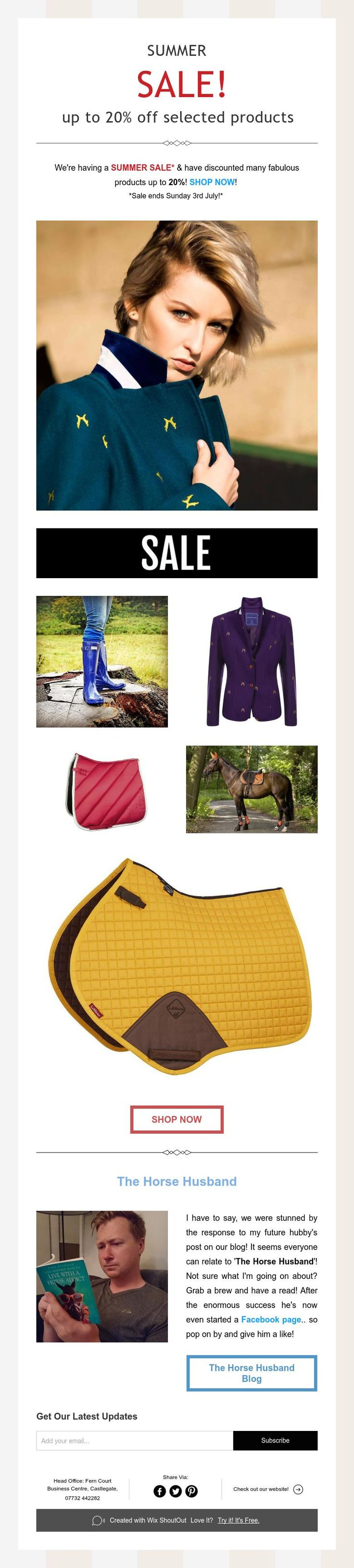 SUMMER  SALE!  up to 20% off selected products!  Grab a bargain NOW! #sale #lofthouseequestrian #horserider #tackshop