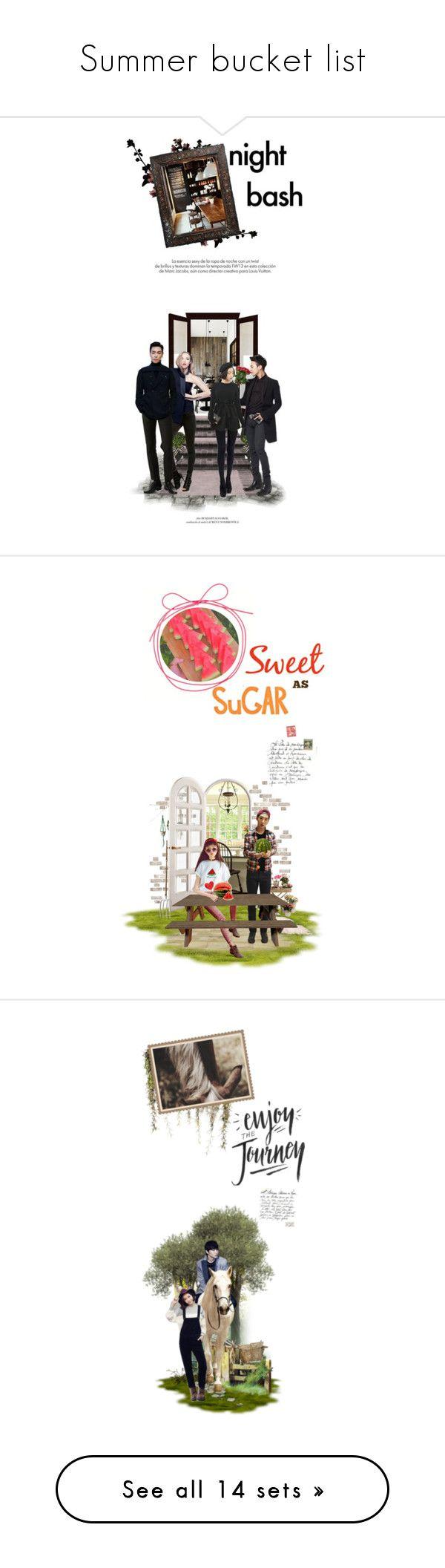 """Summer bucket list"" by followmiiin ❤ liked on Polyvore featuring kpop, art, doll, korean, Ulzzang, JayPark, kpopdoll, beauty, Farhi by Nicole Farhi and CO"
