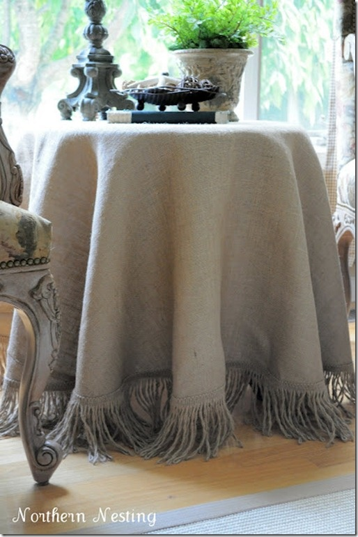 Burlap Tablecloth, Love The Fringe
