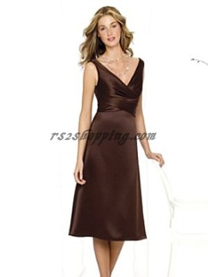 Brown bridesmaid dress - kind of like this one...going with brown and blue :)