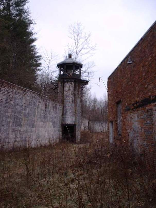 One of three guard towers still standing at Roseville Prison, abandoned since 2005. Roseville, Ohio.
