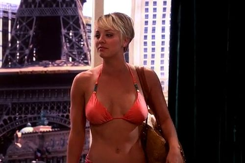 Penny (Kaley Cuoco-Sweeting) showed off her flat tummy in an episode last season. Description from cbs.com. I searched for this on bing.com/images