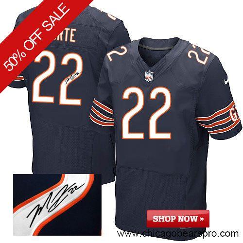 $89.99 Men's Nike Chicago Bears #22 Matt Forte Team Color Blue NFL Alternate Autographed Jersey