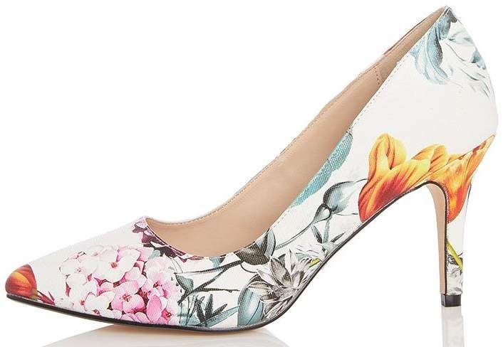 Multi Colour Floral Point Court Shoes £29.99 #CommissionLink