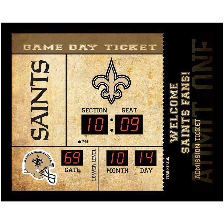 "New Orleans Saints 23"" x 18"" Bluetooth Scoreboard Wall Clock"