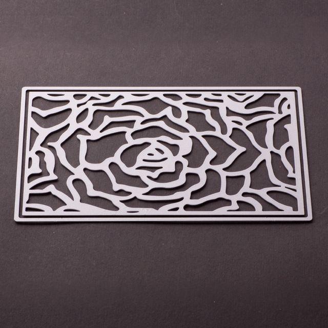 Flor Rectangular Metal Corte muere Embossing Scrapbooking Decoración de Arte de papel