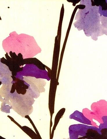 Luli Sanchez: Watercolor, Luli Sanchez Simply, Purple, Luli Sanchez Enlarge, Flower Paintings, Flower Prints, Flower Patterns, Sanchez Sprints, Floral Pattern