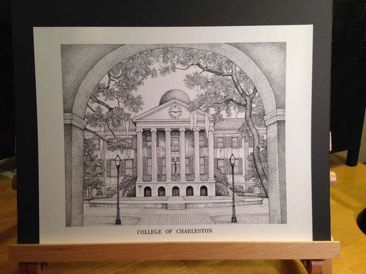 College of Charleston 11x14 print by CampusScenes on Etsy https://www.etsy.com/listing/246036628/college-of-charleston-11x14-print