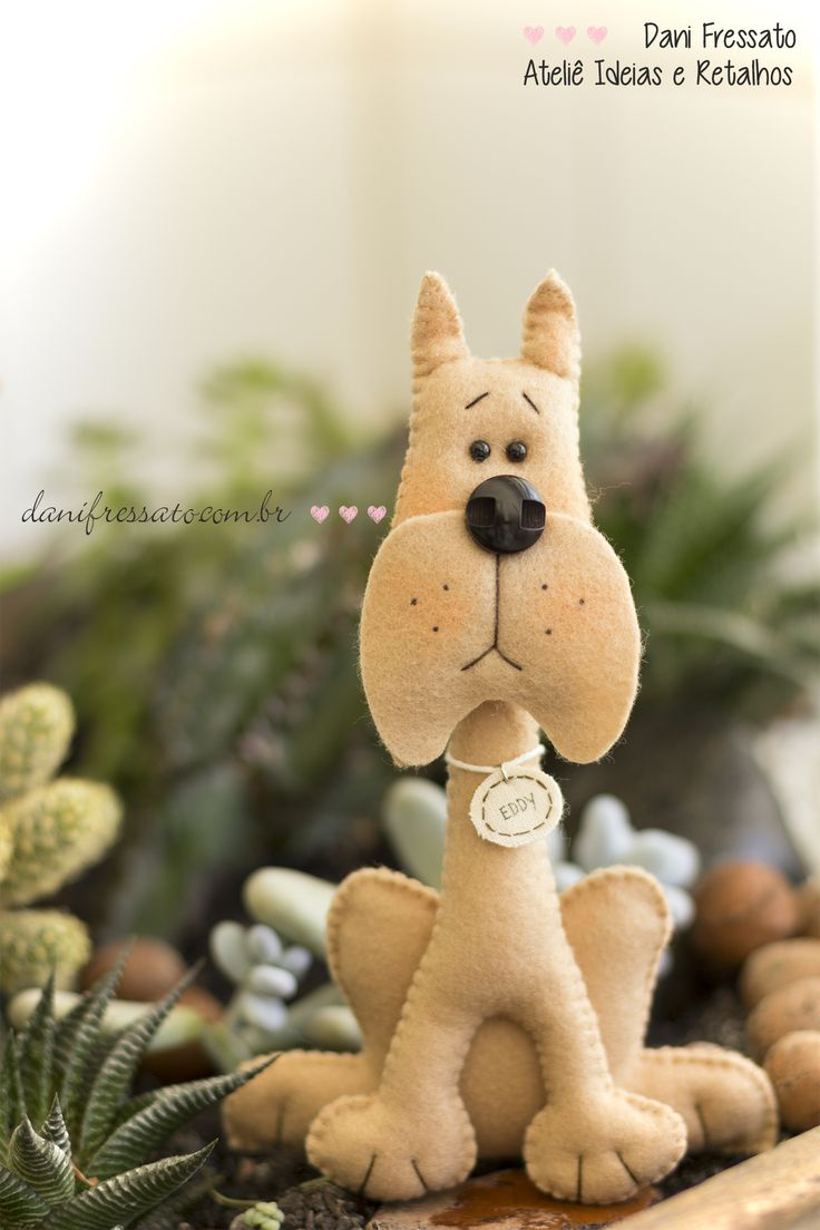 Cachorro de Feltro - Vira Lata/ Sem Raça Definida