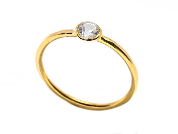 Crystal Band Ring Gold - HeidisHoff.no