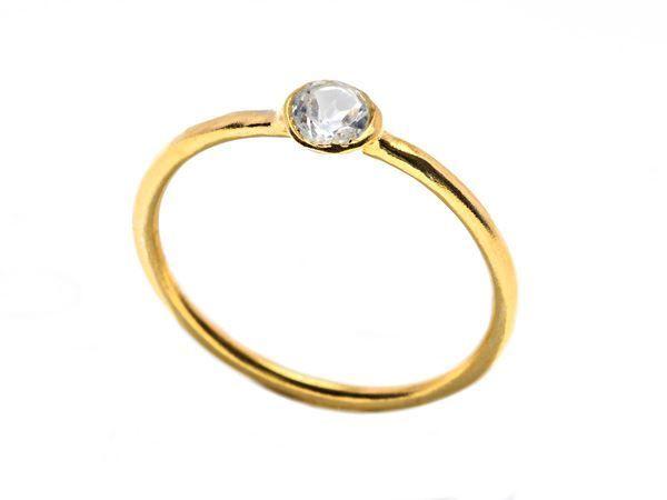 Crystal Band Ring Gold - HeidisHoff.no