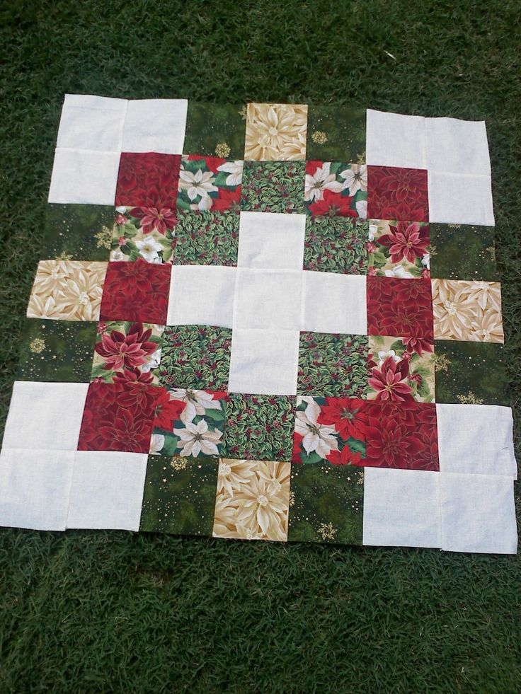 Twister Wreath block layout before cutting twister squares