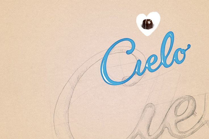 logo Cielo - Klipp og Lim  #logo #chocolate #packaging #script