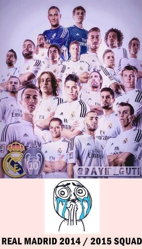 REAL MADRID 2014-2015.... Everyone's mean muggin, then there's chicharito lol