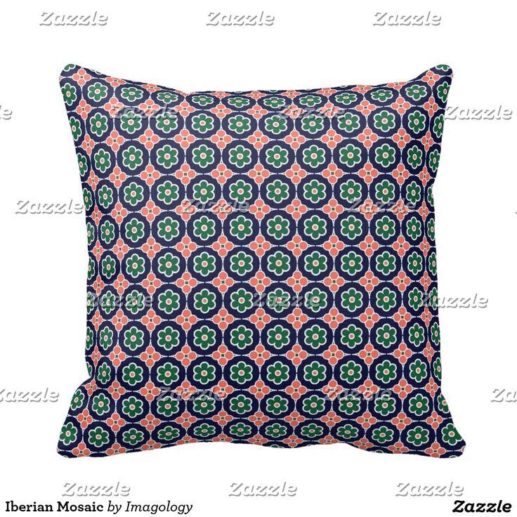 Iberian Mosaic Throw Pillow