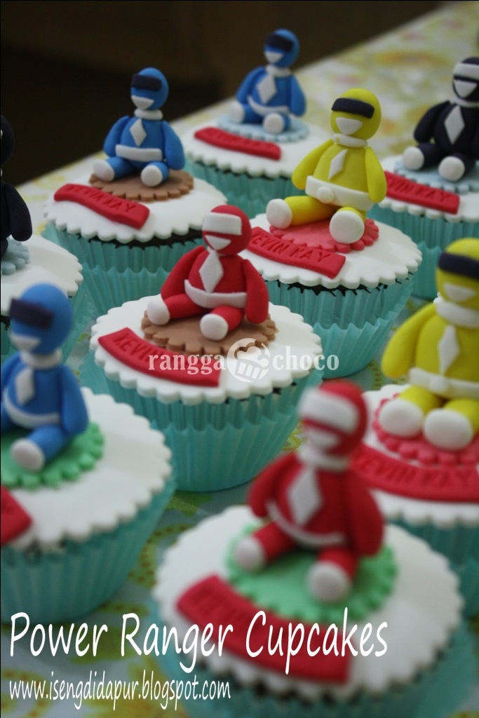 Ranggachoco Power Ranger Cupcakes And Birthday Cake