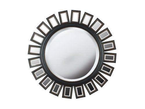 kenroy home straus wall mirror with bronze finish 34 inch diameter wall mirror - Schmales Nachttischziel