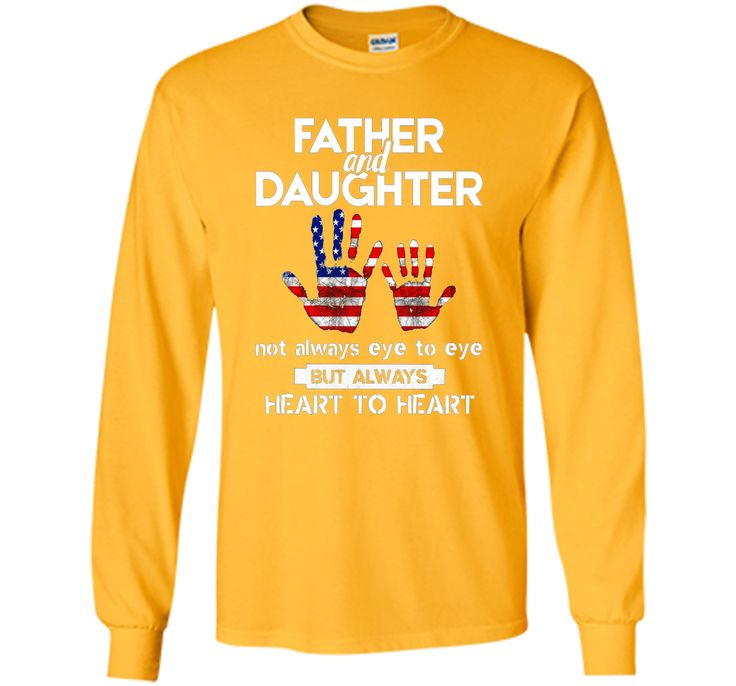Father & Daughter ~ Father's Day T-Shirt USA US America Flag