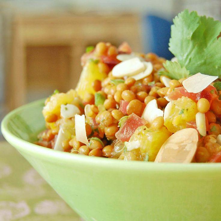 Salade de lentilles ensoleillée - Très bon!