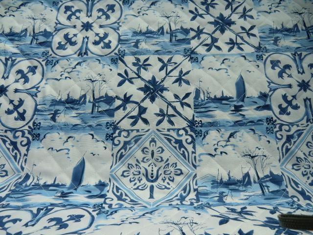 Gewatteerd delfs blauw gewatteerd delfs blauw tweezijdig gewatterde delfs blauwe katoen 1 - Paraplu katoen ...