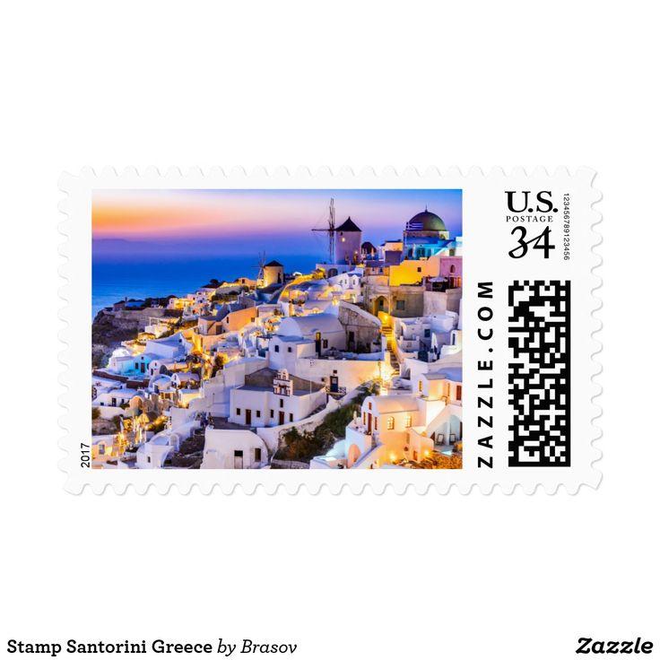 Stamp Santorini Greece