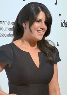 """Monica Lewinsky(1973 - ) an American activist, television personality, fashion designer, and former White House intern with whom President Bill Clinton admitted to having had what he called an """"inappropriate relationship"""" while she worked at the White House in 1995 and 1996. The affair and its repercussions, which included Clinton's impeachment, became known as the Lewinsky scandal."""