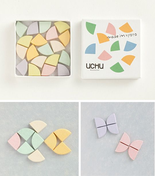 "Japanese confectionery packaging - Uchu Wagashi ""Drawing"""