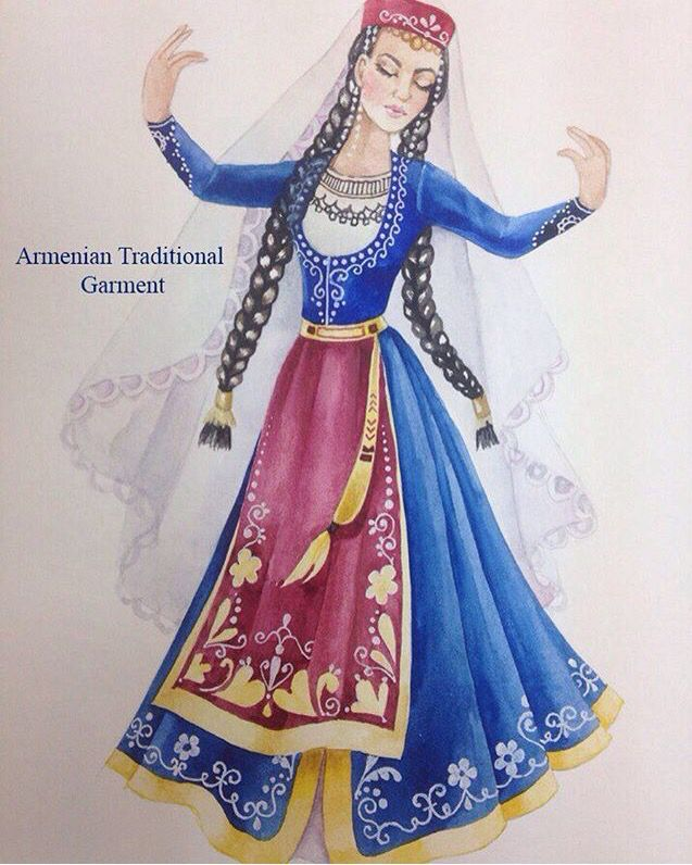 Armenian girl in traditional costume