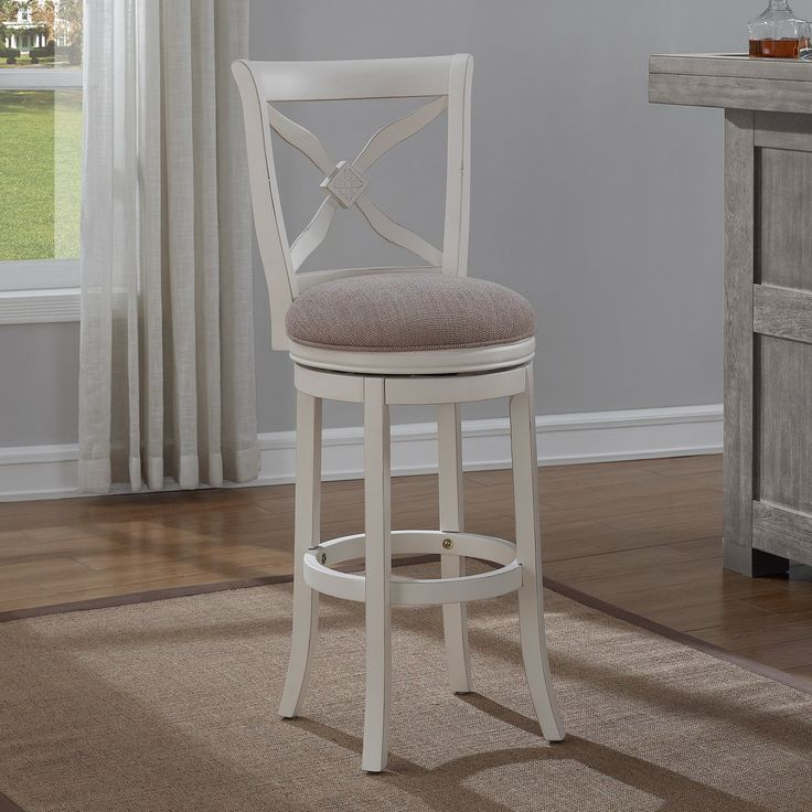 Ordinary Beach House Counter Stools Part - 14: American Woodcrafters Accera Swivel Tall Bar Stool | From Hayneedle.com