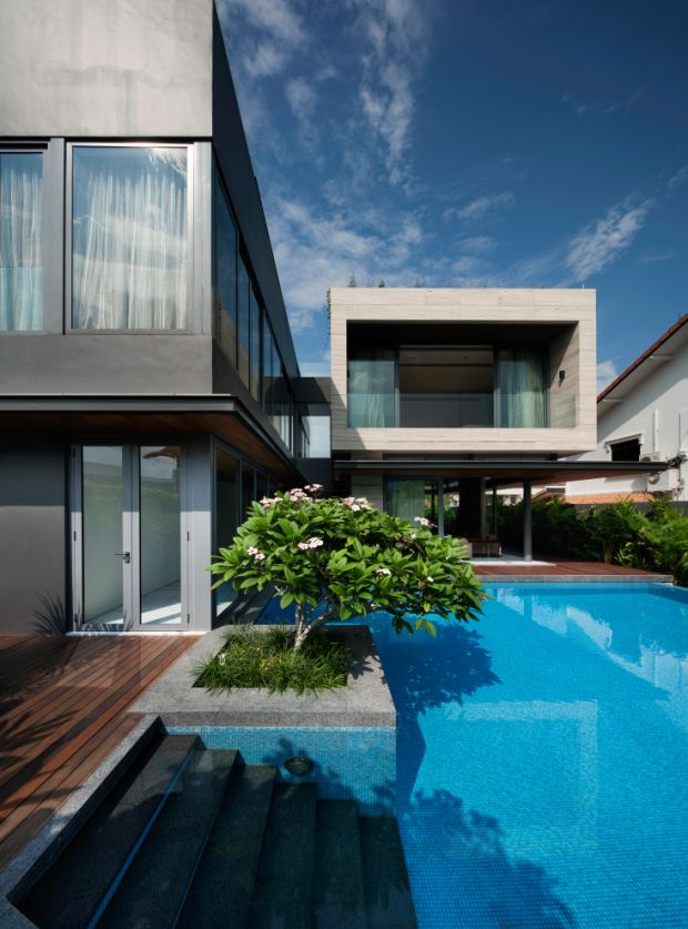 Contemporary Style Home | Travertine Dream House