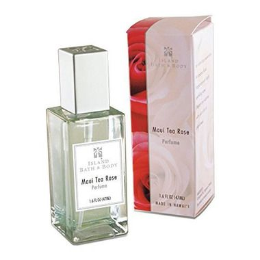 4 Bottles Island Bath & Body Maui Tea Rose Perfume 1.6 Oz. Each