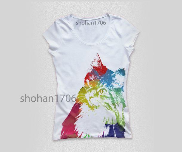 Tshirt Watercolor Design Picture Portrait Colorful Tshirt