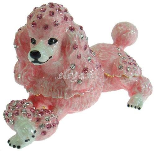 Pink Poodle Dog Crystals Jewellery Jewel Wedding Favor Gift Trinket Ring Box | eBay