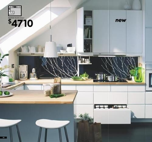 kitchen #kitchen, #ikea #hgtvremodels white and black kitchen butcherblock countertops