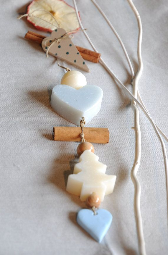 blue french soap garland   for   mother's  day  gift